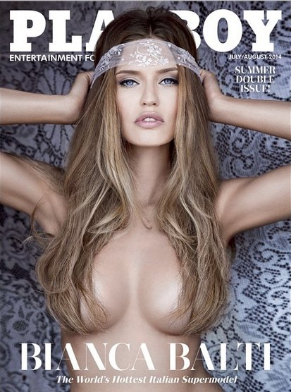 July/August 2014 Playboy Cover featuring Bianca Balti, Italy's hottest supermodel